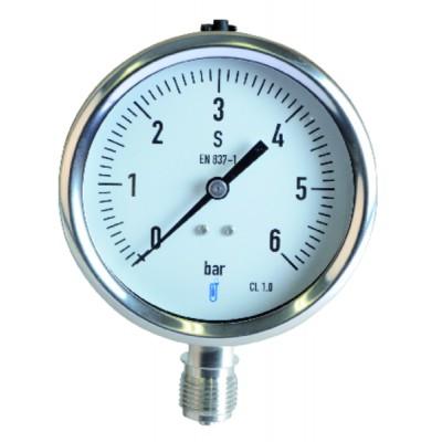 Manómetro vapor 0/6 bar Ø100mm