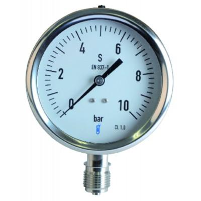 Manómetro de vapor 0/10 bar Ø100mm