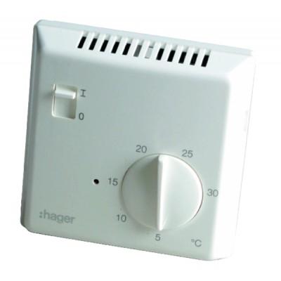 Termostato simple electrónico electrónico 25513 - HAGER : 25513