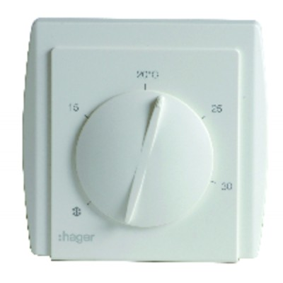 Room thermostat hager 54185 with diaphragm - HAGER : 54185