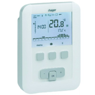 Programmable thermostat hager digital 230v 7 days - HAGER : EK530