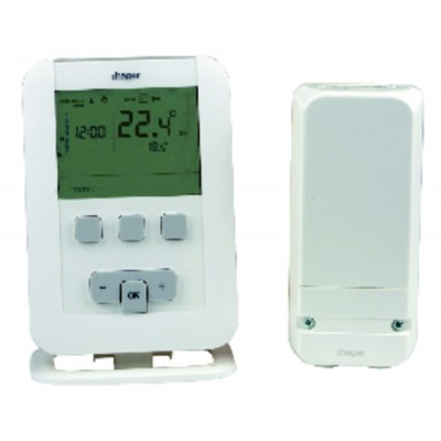 Programmable thermostat radio ek560 batteries lr3 - HAGER : EK560