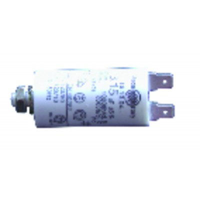 Standard Kondensator ständig  4 µF (Ø30 x Lg.60 x Gesamtlänge 84 )