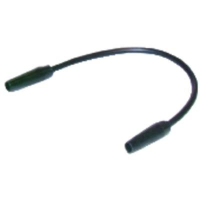 Câble droit 2 connecteurs 400mm (X 6)