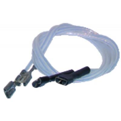 Ptfe hv lead ø2.5mm faston terminals 2,8  (X 2)