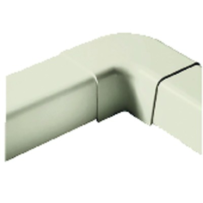 Plane curve for cable duct 140x90 cream-coloured 9001