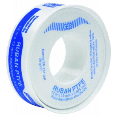 Sealing ptfe roll 12mm  (X 10) - GEB : 815192