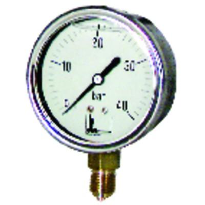 Manómetro 0 a 40 bar Ø63mm