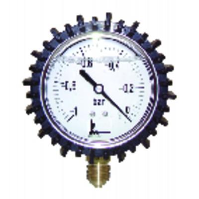 """Vacuum gauge round dial -1 0 bars ø63mm m1/4"""""""