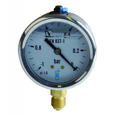 Vacuómetro -1 a 0 bar Ø63mm