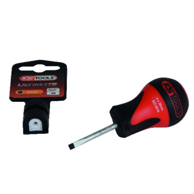 Electrician's screwdriver for slotted screws length 35mm