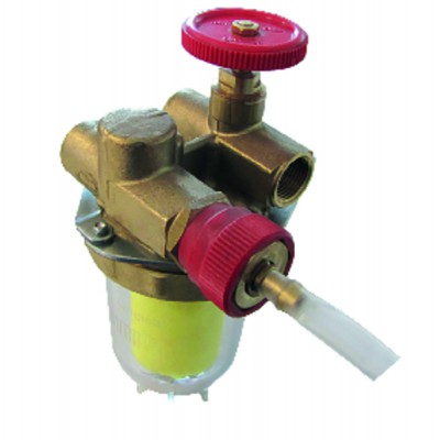 "Filtre fioul recyclage avec robinet FF3/8"" - OVENTROP : 2122261+2127600"