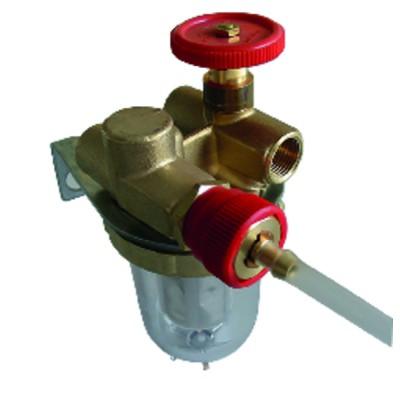 Filtro gasóleo reciclaje con válvula de corte HH3/8'' - OVENTROP : 2122103+2127600