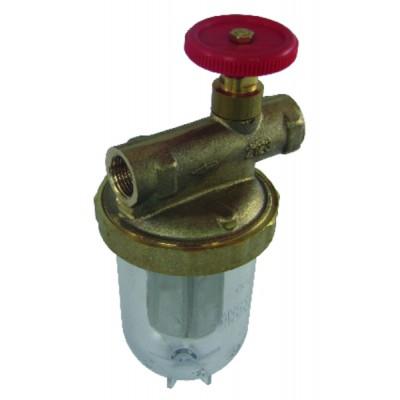 """Filtre fioul une conduite avec robinet FF3/8""""  - OVENTROP : 2123103+2127700"""