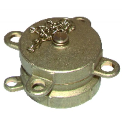 "Half coupling female ø 2"" with plug and chain"
