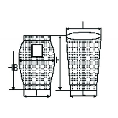 Vacuum cleaner bag h550 (X 10)