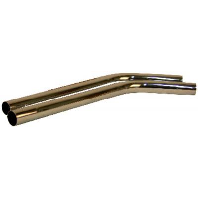 Kit rallonge 1m acier chromé Ø40mm