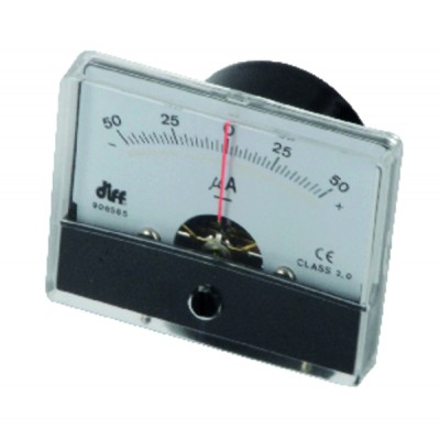 Microammeter map to fix from -50 to 50µa