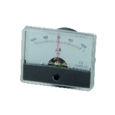 Microammeter map to fix from -100 to 100µa