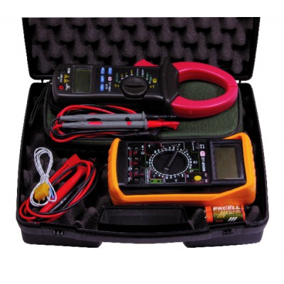 Multimeter carrying case/amperemetric clamp