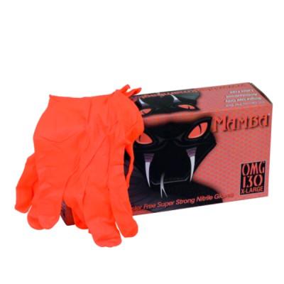 Black mamba gloves size 8/9 orange (X 100)
