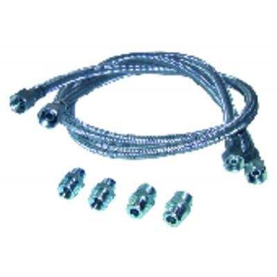 Flexible gasoil recto 1000mm con 4 racores (X 2)