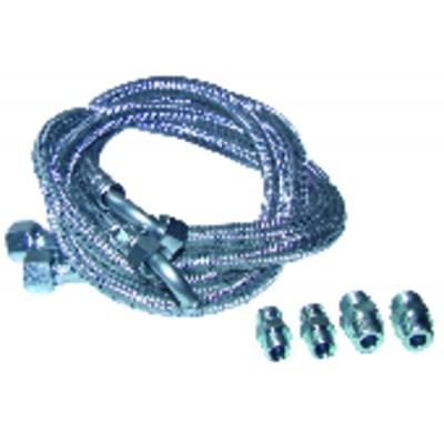 Flexible gasoil codo 1000mm con 4 racores (X 2)