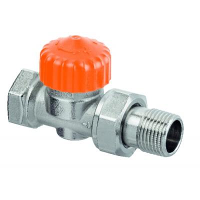 Thermostatic radiator valve body Eclipse straight DN15 1/2 - IMI HYDRONIC : 3462-02.000