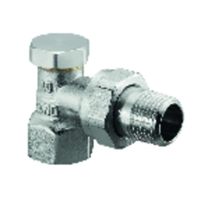 Angle radiator valve with presetting and isolating Combi 2 DN 10  - OVENTROP : 1091061