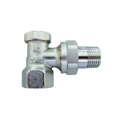 Angle radiator valve with presetting and isolating Combi 2 DN 15 - OVENTROP : 1091062