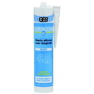 Mastix Silikon sanitär GEB weiß (Patrone 310ml)  - GEB: 893150