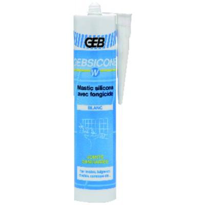 Mastix Silikon sanitär GEB weiß (Patrone 310ml)   (X 12) - GEB: 893150