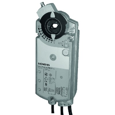 Rotary air damper actuator OpenAir 25Nm 0...10V - 24V~ - SIEMENS : GBB161.1E