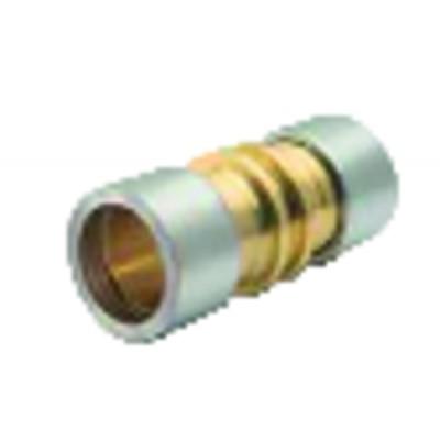 Straight brass connector. LOKRING 16 NK Ms 50 (X 5) - VULKAN LOKRING : 16 NK Ms 50-B5