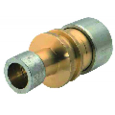 Straight brass connector. LOKRING 19/16 NR Ms 50 (X 4) - VULKAN LOKRING : 19/16 NR Ms 50-B4