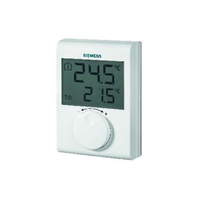 Electronic room thermostat, LCD, setting knob - SIEMENS : RDH100