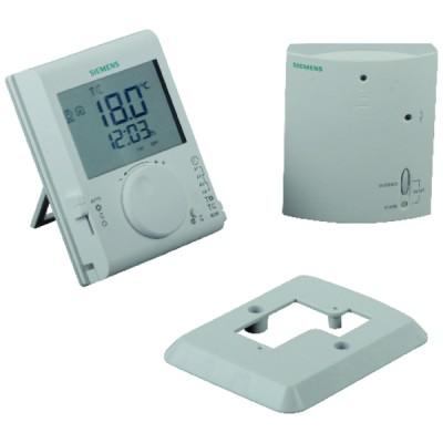 Thermostat ambiance LCD journalier radio - SIEMENS : RDJ100RF/SET