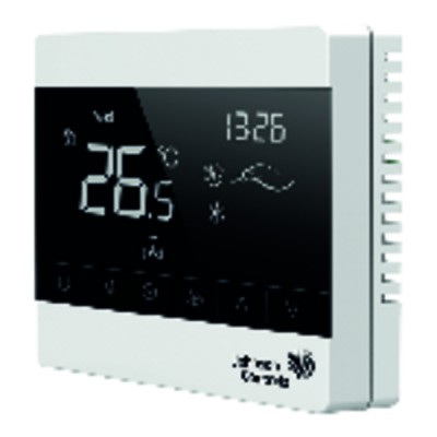 Thermostat for terminal unit 4 pipes Touch screen +5/+35°C - JOHNSON CONTR.E : T8200-TFE0-9JS0