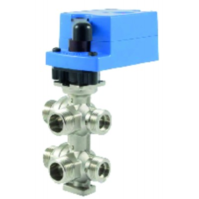 6-Way control valve DN15 male   - JOHNSON CONTR.E : V6W1AAE