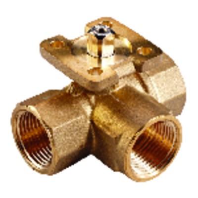 Threaded 3-way ball valve PN40 - JOHNSON CONTR.E : VG1805AD