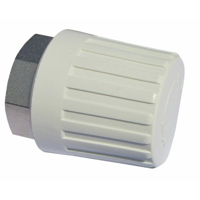 Manual radiator valve heads M30 1.5 white  (X 10) - OVENTROP : 1012565