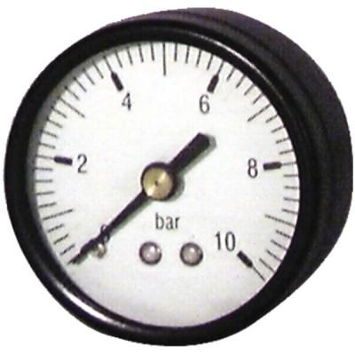 """Runder Druckmesser 0 bis 10 bar Durchmesser 50mm M1/4"""" - DIFF"""
