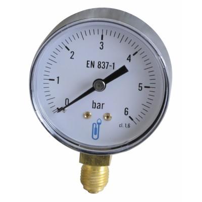Manomètre radial sec 0-6b Ø63mm - DIFF
