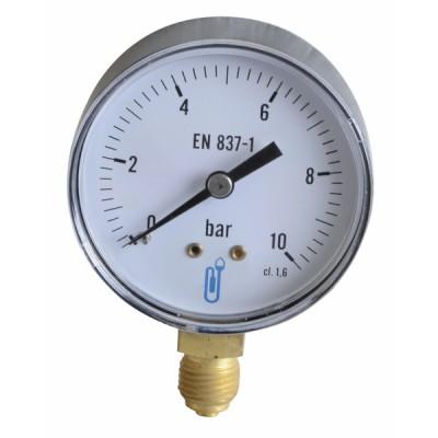Manomètre radial sec 0 à 10b Ø63mm - DIFF