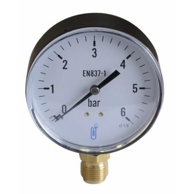 Manomètre radial sec 0-6b Ø100mm - DIFF
