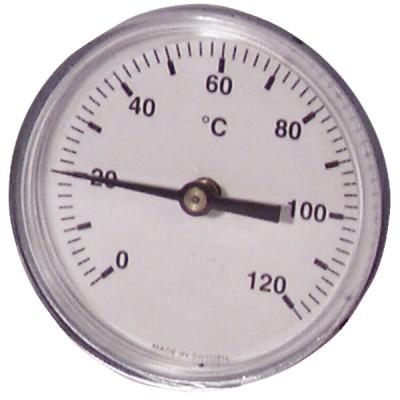 Termómetro redondo a inmersión axial 0-120°C Ø63mm