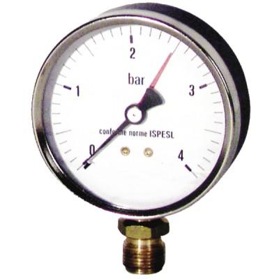"""Druckmesser Wasser und Luft 0 bis 4 bar Durchmesser 80mm M3/8"""" - DIFF"""