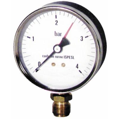 """Runder Druckmesser 0 bis 4 bar Durchmesser 100mm M1/2"""" - DIFF"""