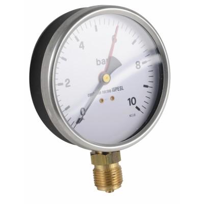 """Runder Druckmesser 0 bis 10 bar Durchmesser 100mm M1/2"""" - DIFF"""