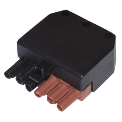 Connector female 6 poles  - DIFF : 803002